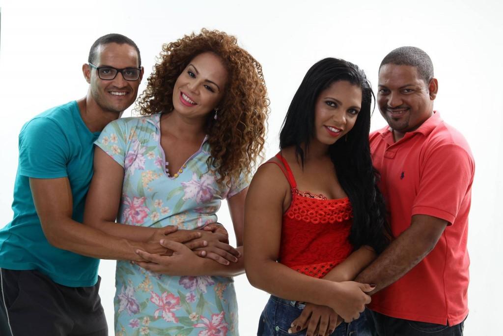 Anderson, Ariane, Bruna e Edson: juntos na campanha Foto: Sérgio Figueiredo