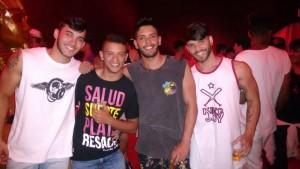 Amigos de Salvador e de Feira de Santana curtiram as festas Foto: Bruno Wendel